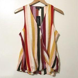 NWT Rachel Roy Striped Blouse Size M